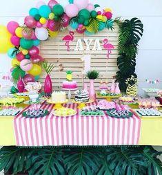 Decoração Flamingo e Abacaxi -Decoracao @projetok3 #festainfantil #festa #flamingo #abacaxieflamingo #abacaxi #festaabacaxi #festaflamingo #confeitaria