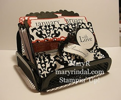 {scrap and stamp with mary}: More Birthday Calendar Rolodex's