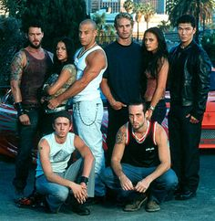 www.youravon.com/lwatson0583 /  The Fast and the Furious - Back Row: Matt Schulze, Michelle Rodriguez, Vin Diesel, Paul Walker, Jordana Brewster, Rick Yune; Front: Chad Lindberg and Johnny Strong are Universal's The Fast and The Furious - 2001
