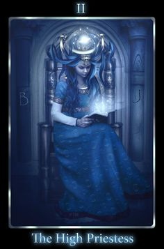 "The High Priestess is aligned with the Moon and represented in the Moon-Goddess Isis in her various guises.  (See the rest on and 'Like' us on http://facebook.com/ATarotADay)  Image ""The High Priestess"" © mari-na.deviantart.com"