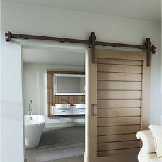Rail coulissant et habillage acier Cottage, pour porte de largeur 93 cm