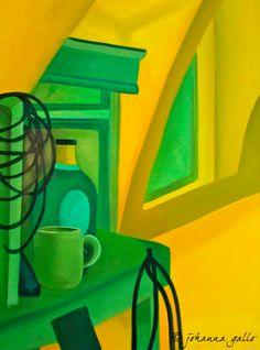Kitchen still life. Oil painting.