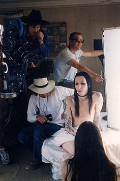 Marilyn Manson filming Man That You Fear video Marilyn Manson, Andy Kaufman, Brian Warner, Charles Manson, Twiggy, My Favorite Music, Johnny Depp, Music Is Life, Cute Guys