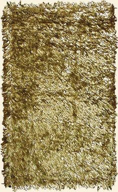 Leather Metallic Gold Shag rug