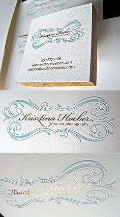 Classically Styled Foil Business Cards | Business Cards | The Design Inspiration