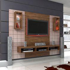 Sala maravilhosa é aqui mesmo! Este #home, além de ter uma beleza única para a decoração tem espaço para você colocar tudinho! #decoração #design #madeiramadeira
