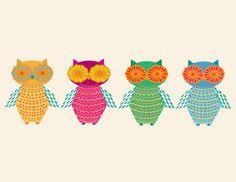 Owl+Friends+by+JudyOIllustrations