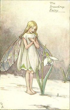 The snowdrop fairy - Fata del bucaneve; Cicely Mary Barker