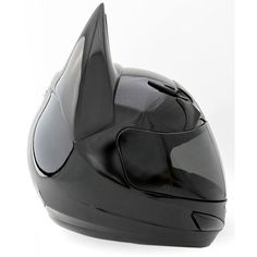 Bat-Helmet Custom Motorcycle Helmet For The Ultimate Batman Fan ❤ liked on Polyvore featuring hats, accessories, batman and cars