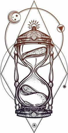 Clock Drawings, Tattoo Drawings, Body Art Tattoos, Art Drawings, Clock Tattoos, Watch Tattoos, Quote Tattoos, Hour Glass Tattoo Design, Clock Tattoo Design