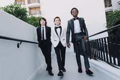 Finn Wolfhard, Caleb McLaughlin and Noah Schnapp Prepare For The 74th Annual Golden Globe Awards