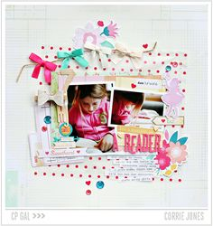 A lovely layout created using the Oh Darling Collection from #cratepaper #fabulous #papercrafts