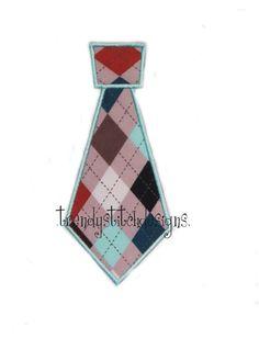 Tie Applique Design Machine Embroidery by trendystitchdesigns