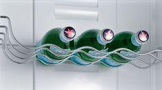 botellero de acero para el frigorifico