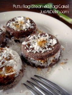 Putu Ragi (Steamed Millet Cake) / Putu Piring | JustAsDelish.com