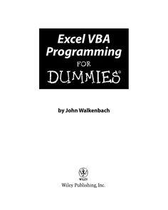 [john walkenbach] excel vba programming for dummie(bookzz org) (1)  โปรแกรม VBA