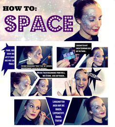 Super einfaches Space-Make Up für Karneval oder Halloween!