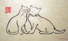 Cat Friends - Debbie Hicks #CatTattoo