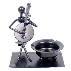 Musical Instrument Small Iron Ashtray Ashtrays Ash Tray for Home Office Business Gift Birthday Gift Male *** Details can be found by clicking on the image.