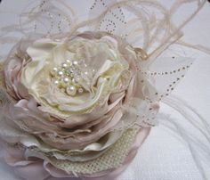 Hey, I found this really awesome Etsy listing at https://www.etsy.com/listing/228657392/bridal-fabric-flower-in-ivory-blush