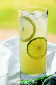 Gina's Down Home Pucker-Up Lemon Limeade -Patrick & Gina Neely {photo courtesy wendyshow.com} (Perfect greenish color for the babyshower.