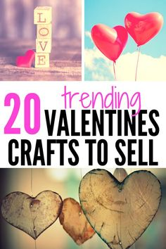 40 Easy Valentines Crafts to Make and Sell Valentines crafts to sell! These creative DIY crafts for Valentines are perfect for selling on Etsy Diy Gifts To Sell, Diy Projects To Sell, Crafts To Make And Sell, Sell Diy, Easy Valentine Crafts, Easy Diy Crafts, Diy Crafts For Kids, Decor Crafts, Wood Crafts