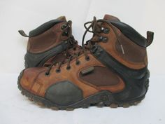 Rocky Stalker Brown Leather Lace Hiking Mountaineering Boots Sz 9.5 W Style 7942 #RockyBoots #HikingTrail