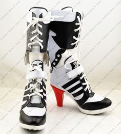 New Batman Suicide Squad Harley Quinn Cosplay shoes Anime Boots high quality Tailor Made