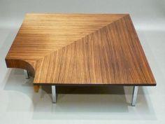 Elégante table basse angle palissandre DESIGN par ILOVEJACOBSEN