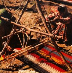 Two nomads from the Zoreh valle in central-southern Iran busily at work weaving a kilim. #orientalrugs #art #decor #history #beauty