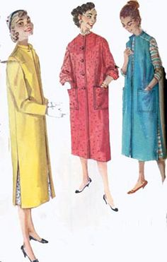 Vintage 50s Simplicity 1470 Simple to Make Coat or by sandritocat, $7.00