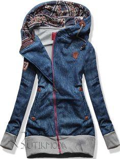 Swaetjacke hellblau D278A Jeans Motiv