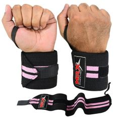 Weight Lifting Wrist Wraps Fitness Support Bandage Gym Training Straps Pink 18 *** You can get additional details at the image link.