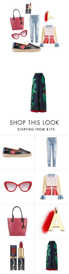 """red, red, red...."" by pesanjsp ❤ liked on Polyvore featuring Gucci, Dsquared2, Moschino, Alexander McQueen, Tory Burch, Fendi and F.R.S For Restless Sleepers"