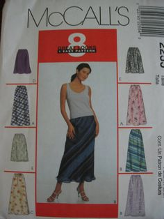 McCalls Misses Womens Pull On Skirt Sewing Pattern by Vntgfindz