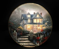 1992 Knowles Home Sweet Home by Thomas Kinkade 2nd Issue Ltd Signed