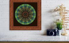Labradorite Tree Mandala Framed Print by Amy Neufeld