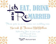 Vow renewal invitation!
