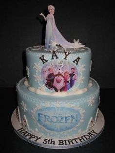disney's frozen cake | Kaya's Disneys' Frozen Cake by isrc