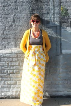 split the lark--: DIY Maxi Skirt!
