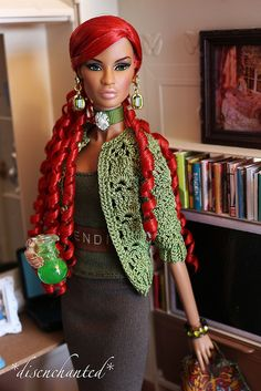 Red Hair Original Barbie Doll, Afro, Diva Dolls, African American Dolls, Poppy Parker, Black Barbie, Barbie World, Barbie Friends, Barbie And Ken