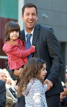 Adam Sandler with daughters Sunny & Sadie