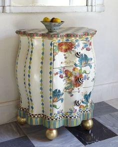 home decor & interior design - ShopStyle: Mackenzie Childs MacKenzie-Childs Blue Tulip Chest