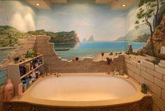 Small Bathroom Murals | bathroom wall mural