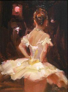 """Johanna Harmon beautifully paints a ballerina in her piece """"Interlude."""""""
