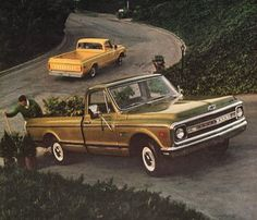 1969 Chevrolet Chevy pickup Truck print ad green and by Vividiom, $8.00