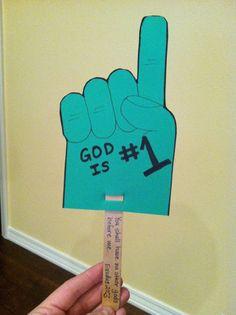 You shall have no gods before me craft - Ten Commandments