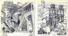 história em desenho: Maurits Cornelis Esher