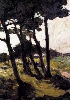 Pine trees ~ equihen, france ~ ca.1908 by max Bohm