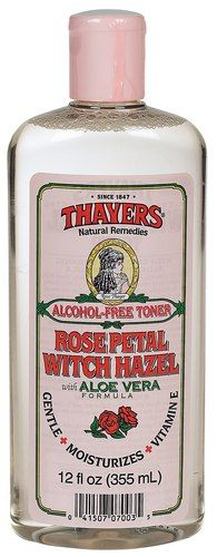Rose Petal Witch Hazel Toner - With Aloe Vera ---All organic ingredient which you can read on the back, nothing bad in it just rose water, aloe vera, witch hazel, grapefruit seed and vitamin E. This is my new life staple toner a must have and it is so cheap!